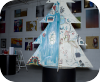 live sketch,paper crown,gallery,arlington heights,illinois,evergreen,christmas,tree